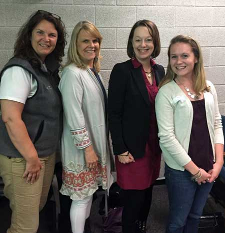 Rachel and Britney from the LRH Birthing Center attending a 5 day Certified Lactation Counselor training in Burlington Vermont. Britney and Rachel are pictured with Barb and Jacque from the Healthy Children Project, Inc.